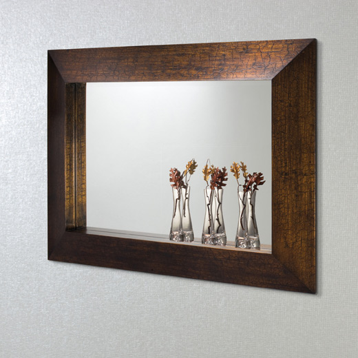Tuscan Bronze Crackle Mirror With Vases Mirrors Funky